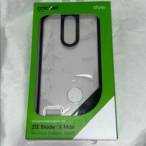 💜ZTE Blade X Max Two-Tone Designer shieldhardCase